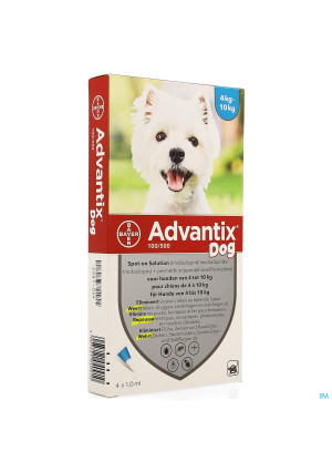 Advantix 100/ 500 Chiens 4<10kg Fl 4x1,0ml2087054-20