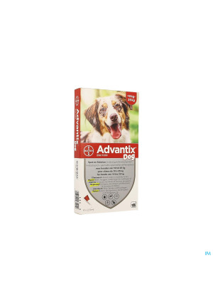 Advantix 250/1250 Chiens 10<25kg Fl 4x2,5ml2087062-20