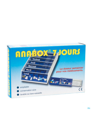 Anabox Pilulier Bleu 7 Jours2181675-20