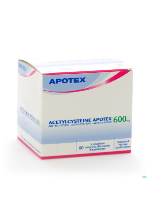 Acetylcysteine Apotex Comp Eff 60 X 600mg2227015-20