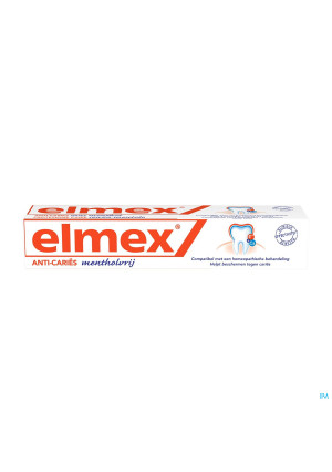 DENTIFRICE ELMEX® SANS MENTHOL TUBE 75ML2334902-20
