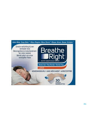 BREATH RIGHT BANDE NASAL TANNED 30 PC2672582-20