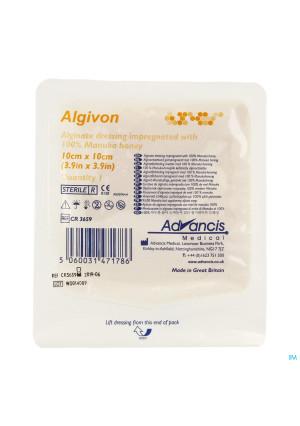 Algivon Alginate Miel Manuka N/adh Ster 10x10cm 12789790-20