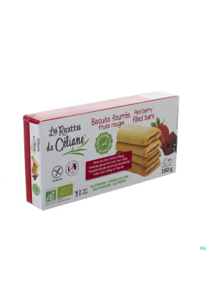Celiane Biscuit Fourre Fruits Rouges Bio 160g 45872829364-20