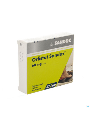 Orlistat Sandoz Caps Dure 42 X 60mg2875417-20