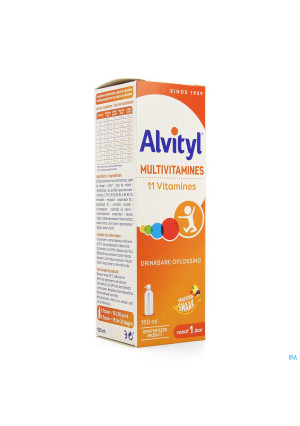 Alvityl Multivitamines Sol Buv. Fl 150ml3037603-20