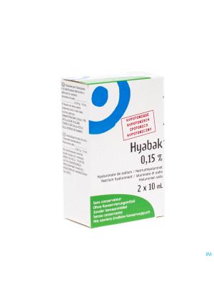 Hyabak 0,15% Duopack Nf Fl 2x10ml Rempl.28796173040326-20