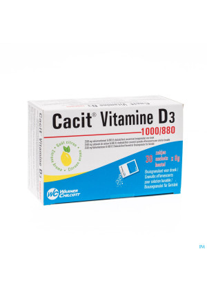Cacit Vit. D3 1000/880 Sach Gran 30 Impexeco Pip3113214-20