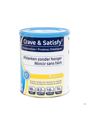 Crave and Satisfy Proteines Diet.banana Pdr Pot 200g3130200-20