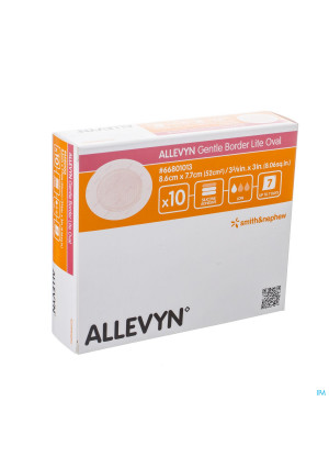 Allevyn Gentle Border Lite Oval Small 10 668010133144805-20
