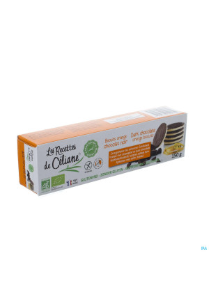 Celiane Biscuit Chocolat Noir Orange Bio 150g 46523155785-20