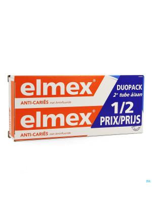 Elmex Dentif Anticaries Tube 2x75ml 2Ème-50%3216819-20