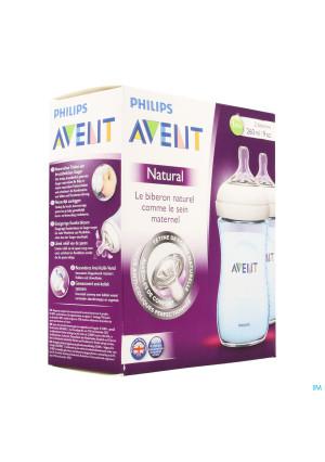 Avent Biberon Natural Bleu Duo 2x260ml3391372-20