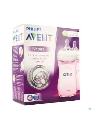 Avent Biberon Natural Rose Duo 2x260ml3391380-20