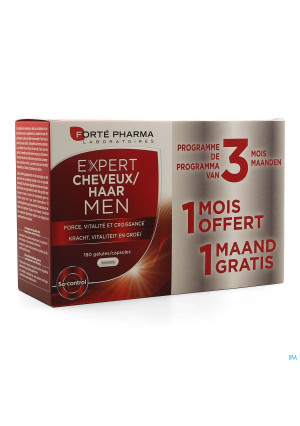Expert Cheveux Men Caps 180 Promo 2+1 Gratuit3433315-20