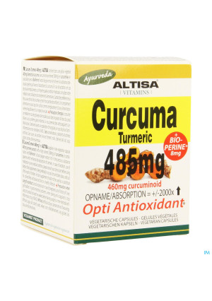Altisa Curcuma Extr. 485mg + Piperine V-caps 503456852-20