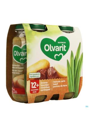 Olvarit Haricots Boeuf Puree 2x250g 12m043457900-20