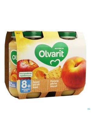 Olvarit Fruit Pomme Peche Biscuit 2x200g 8m543458064-20