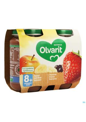 Olvarit Fruit Pomme Fraise Cassis 2x200g 8m603458098-20