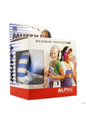 Alpine Muffy Casque Auditif Kids Bleu/blanc3479060-20