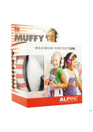 Alpine Muffy Casque Auditif Kids Blanc/rouge3479078-20