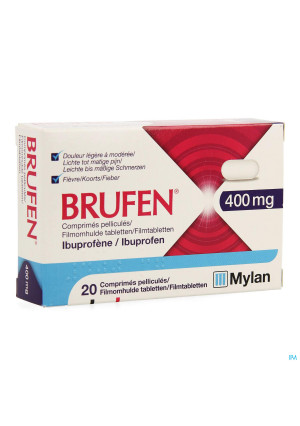Brufen 400mg Comp Pell Tabl 20 X 400mg3491875-20