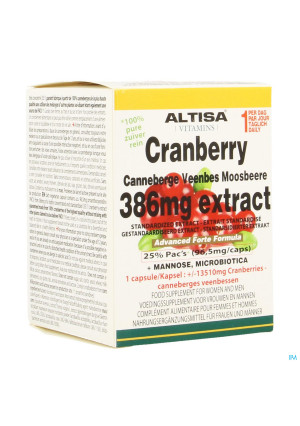 Altisa Cranberry Extract+mannose Adv.plus V-caps453494291-20