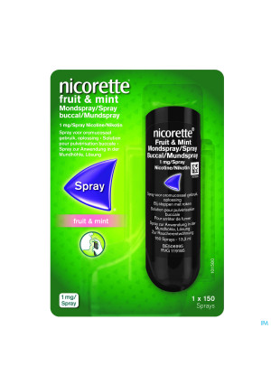 Nicorette Fruit and Mint 1mg/spray (150 sprays) 3521143-20