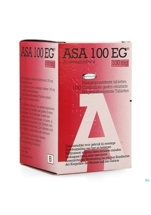 Asa 100 Eg 100mg Comp Gastroresist. 100 Pot3546959-20