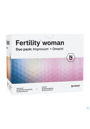 Fertility woman Duo 60 comp Improvum + 60 gélules Omarin3552320-20