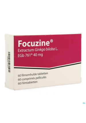 Focuzine 40 mg 60 comprimés3562717-20