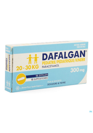 Dafalgan Pediatrique 300mg Suppo 123606167-20