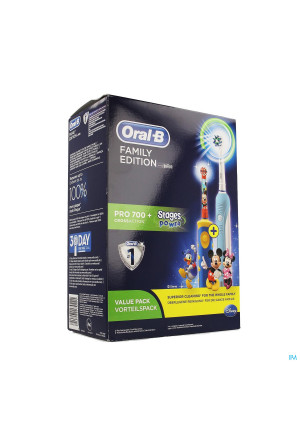 Oral B Brosse Elect. Pro 700 Family Pro700+stages3614732-20