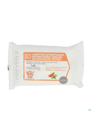 Prevens Lingettes A/sept. Pamplemousse Pocket 103677721-20