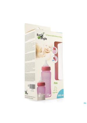 B-thermo Glass Bottle 300ml Pink3702412-20