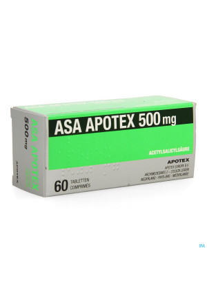 Asa Apotex 500mg Comp 60 X 500mg3797255-20