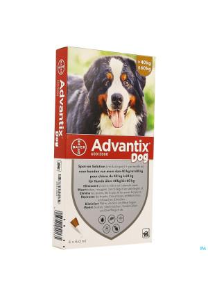 Advantix Dog Spot-on Sol Chien 40-60kg Pipet 4x6ml3804994-20