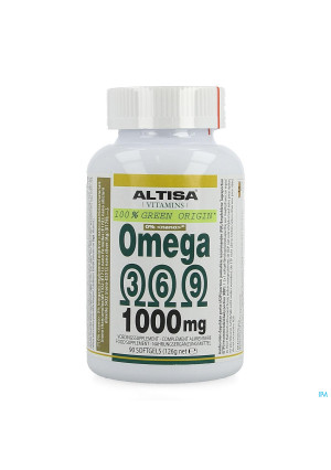 Altisa Omega 3 6 9 Vegetal 1000mg Softgels 903833902-20