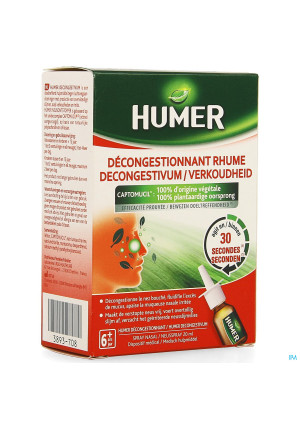 Humer Decongestionnant Rhume Spray Nasal 20ml3893708-20