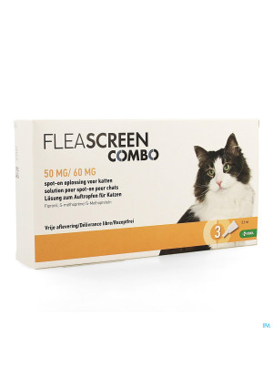 Fleascreen Combo 50mg/60mg Spot On Chat Pipet 33902970-20