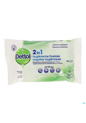 Dettol 2en1 Lingettes Hygieniques 123909710-20