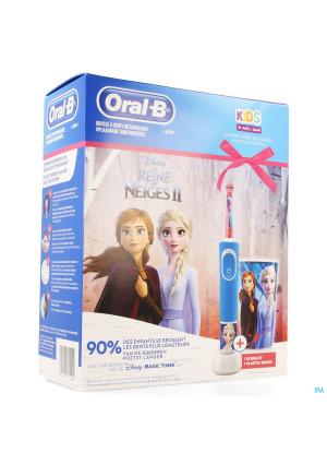 Oral B Kids D100 Reine Neige + Eb10+ Gobelet Grat.3973591-20