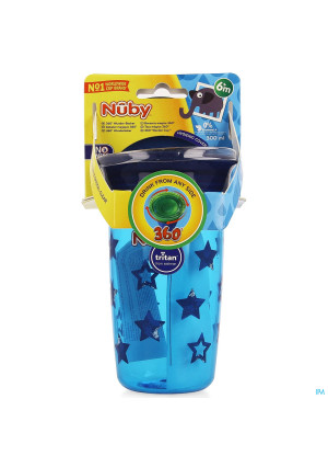 Nuby Gobelet Magique 360° Tritan 300ml Bleu 6m+3978012-20