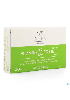 Alfa Vitamine K2 D3 Forte Softgel 304108437-20