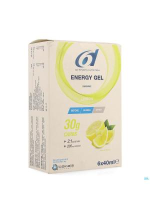 6d Sixd Energy Gel Lemon 6x40ml4167912-20