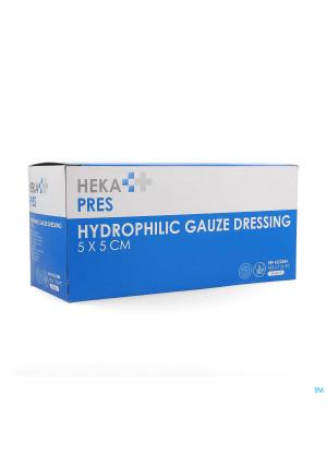 Hekapres Compr.gaze Hydroph.ster. 5x5cm 12pl 1x1004224291-20