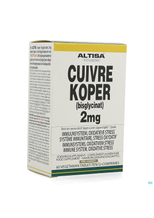 Altisa Cuivre Bisglycinate 2mg Comp 604235172-20
