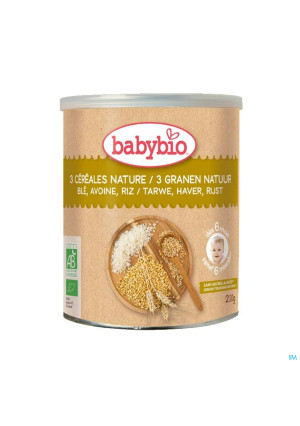 Babybio 3 Cereales Nature 6m 220g4364642-20