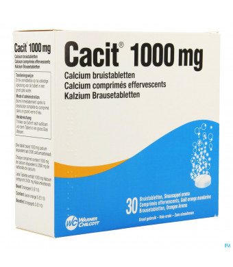 Cacit 1000 Bruistabletten Tube 30 X 1000mg1218460-30