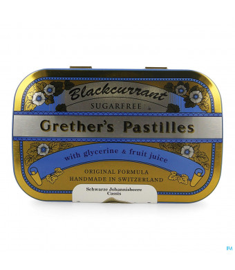 Blackcurrant Grethers Zonder Suiker Past 110g1389279-31